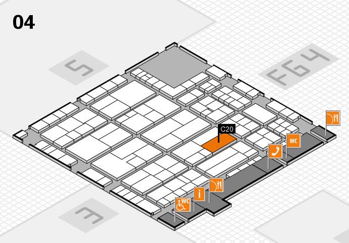 K 2016 hall map (Hall 4): stand C20