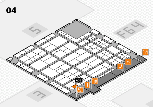 K 2016 hall map (Hall 4): stand A03