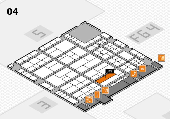 K 2016 Hallenplan (Halle 4): Stand B13