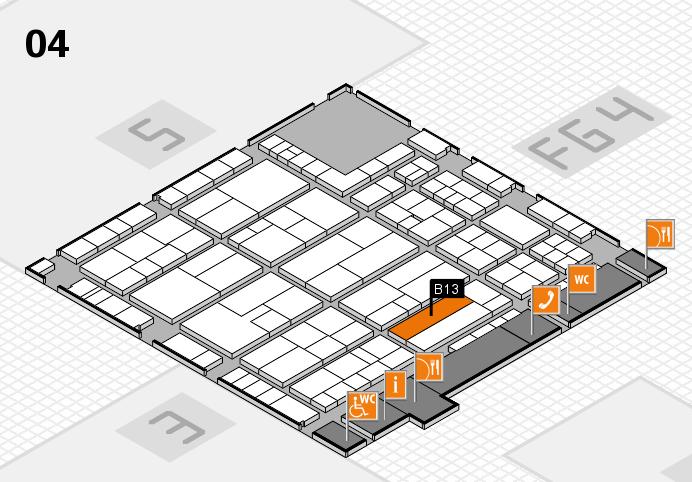 K 2016 hall map (Hall 4): stand B13