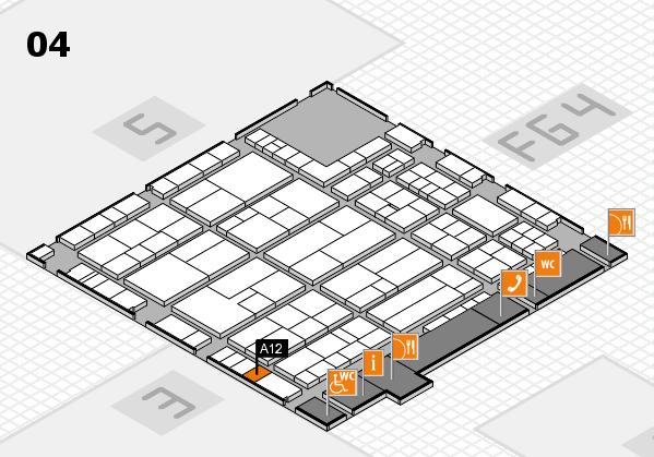 K 2016 hall map (Hall 4): stand A12
