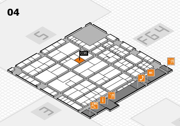 K 2016 hall map (Hall 4): stand C36
