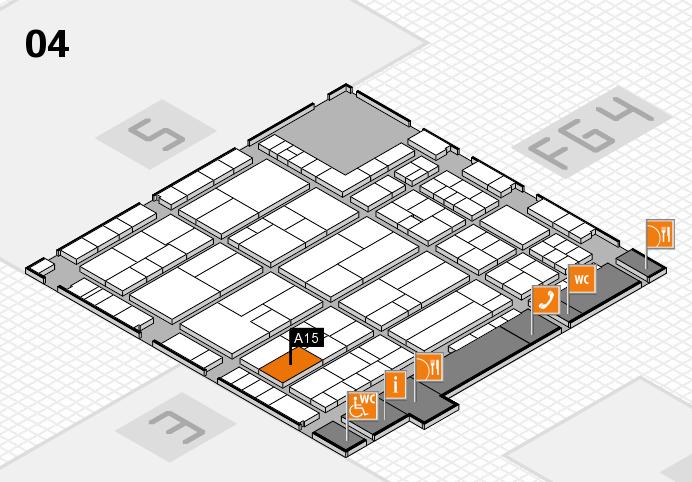 K 2016 hall map (Hall 4): stand A15