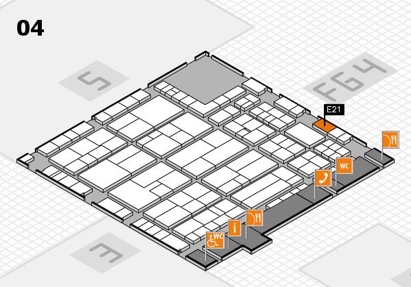 K 2016 hall map (Hall 4): stand E21