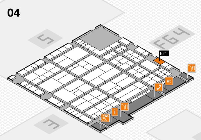 K 2016 Hallenplan (Halle 4): Stand E21