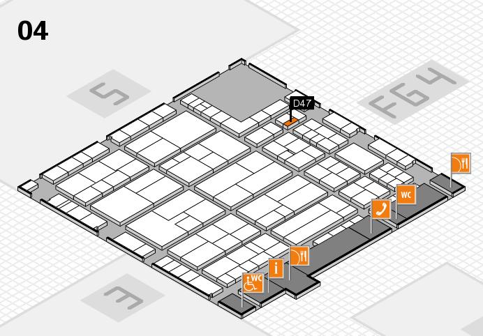 K 2016 hall map (Hall 4): stand D47