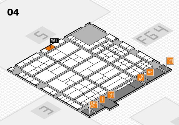 K 2016 hall map (Hall 4): stand B61