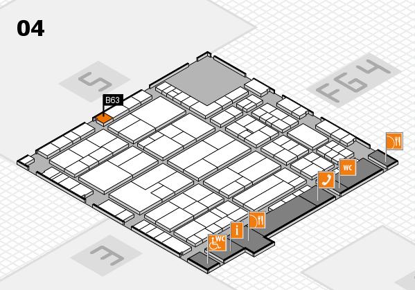 K 2016 hall map (Hall 4): stand B63