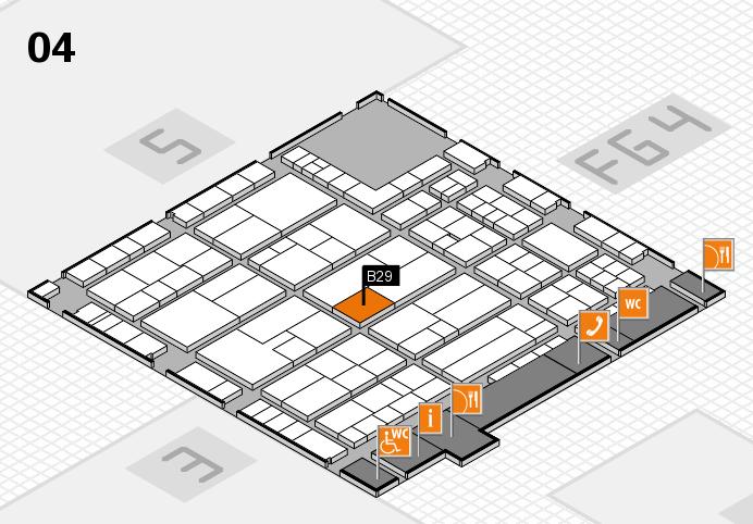 K 2016 Hallenplan (Halle 4): Stand B29