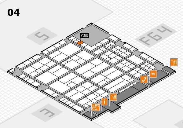 K 2016 hall map (Hall 4): stand C59