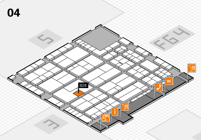 K 2016 hall map (Hall 4): stand B28