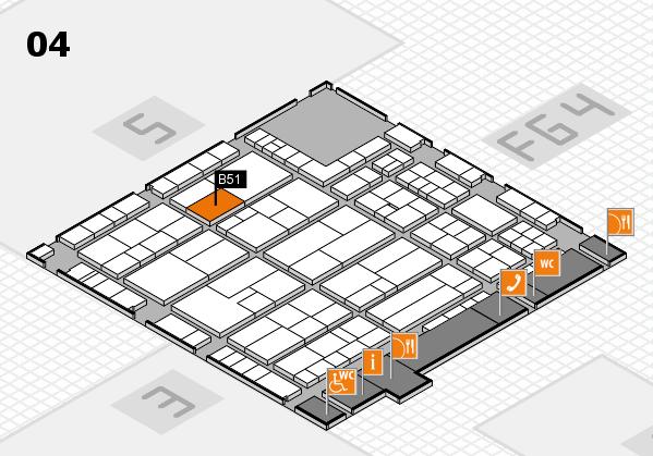 K 2016 hall map (Hall 4): stand B51