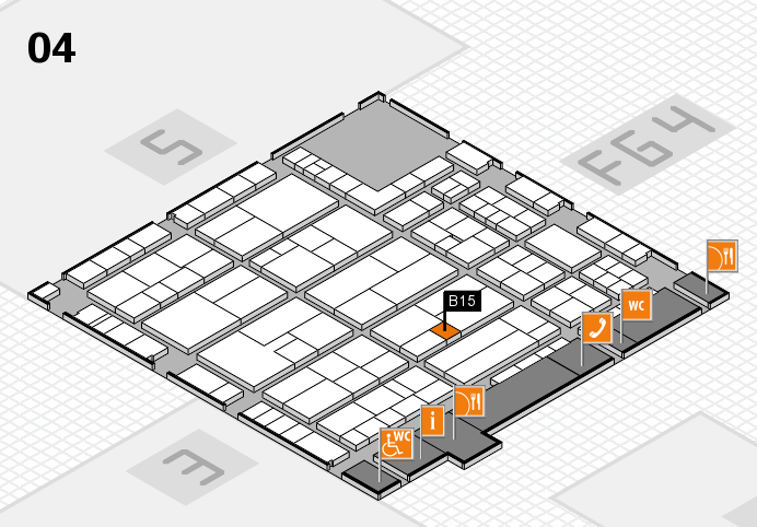 K 2016 hall map (Hall 4): stand B15