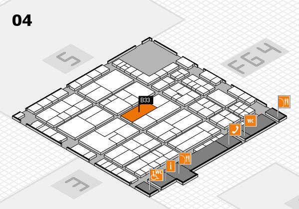 K 2016 hall map (Hall 4): stand B33