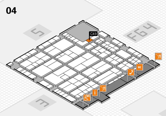 K 2016 hall map (Hall 4): stand C49