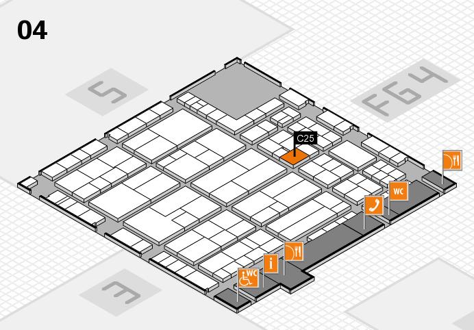 K 2016 hall map (Hall 4): stand C25