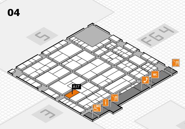 K 2016 hall map (Hall 4): stand A17