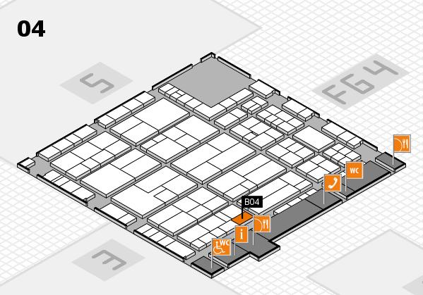 K 2016 hall map (Hall 4): stand B04