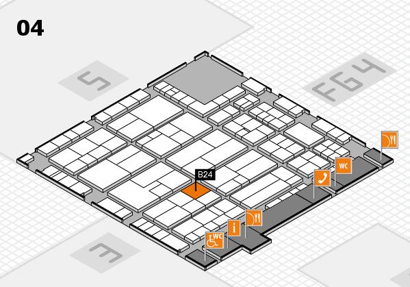 K 2016 hall map (Hall 4): stand B24