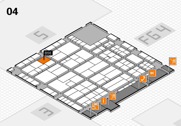 K 2016 hall map (Hall 4): stand B56