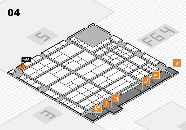 K 2016 hall map (Hall 4): stand A65