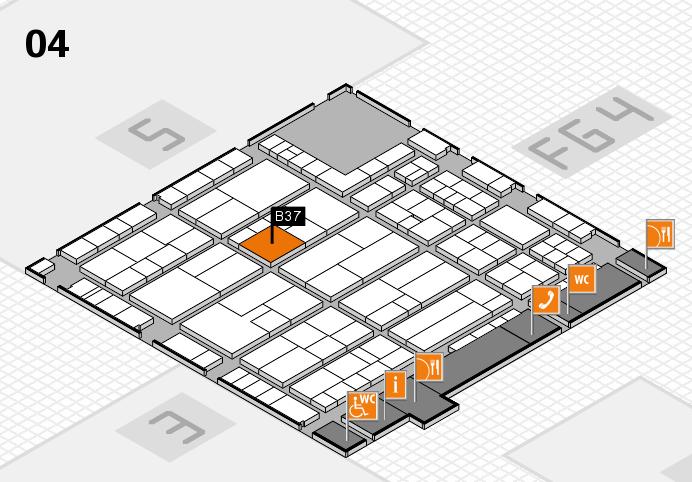 K 2016 hall map (Hall 4): stand B37