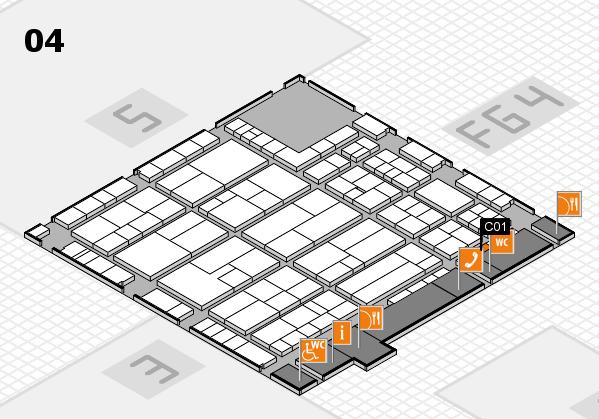 K 2016 hall map (Hall 4): stand C01
