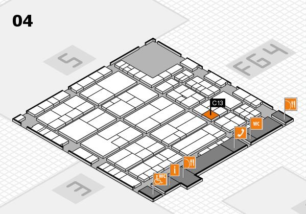 K 2016 hall map (Hall 4): stand C13