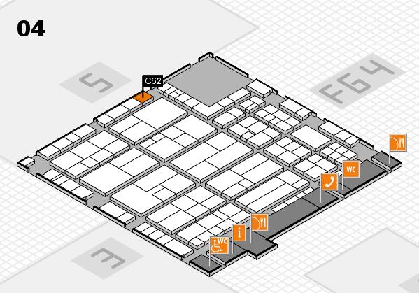 K 2016 hall map (Hall 4): stand C62