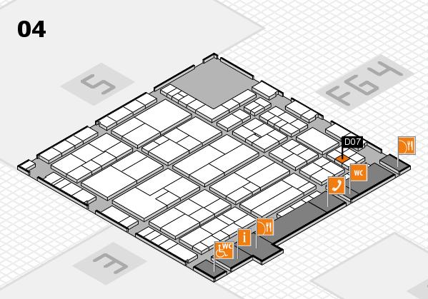 K 2016 hall map (Hall 4): stand D07