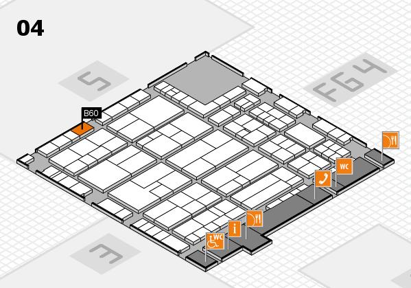 K 2016 hall map (Hall 4): stand B60
