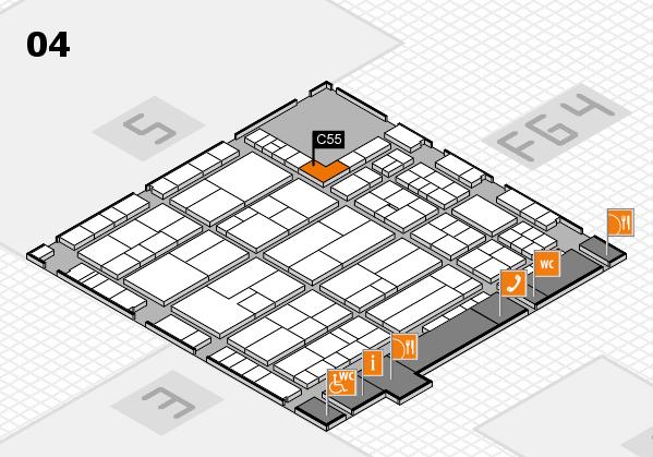 K 2016 hall map (Hall 4): stand C55