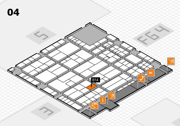 K 2016 hall map (Hall 4): stand B14