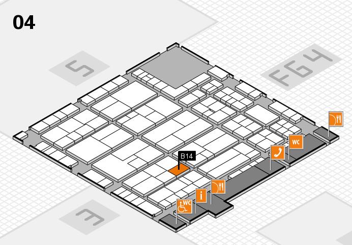 K 2016 Hallenplan (Halle 4): Stand B14