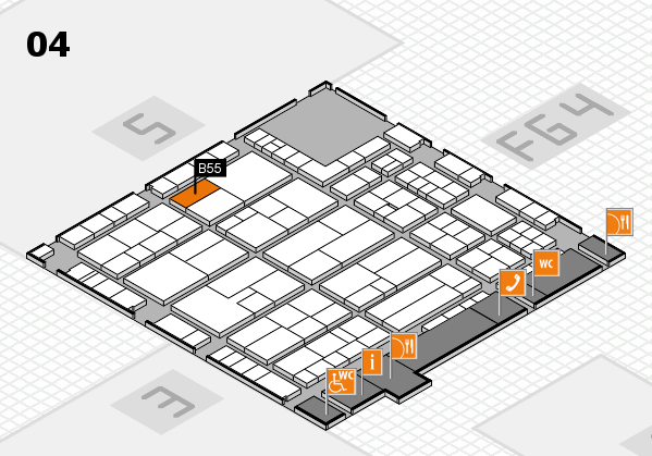 K 2016 Hallenplan (Halle 4): Stand B55