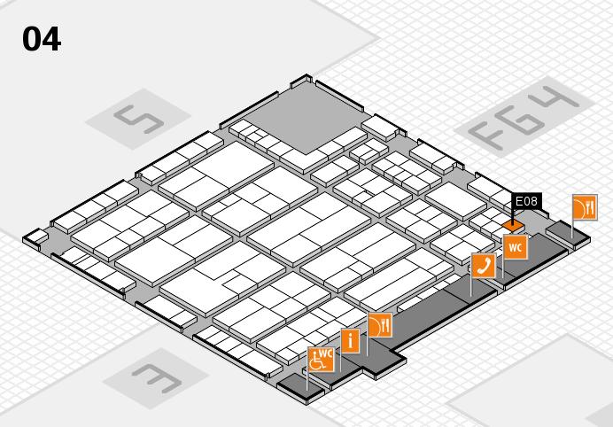 K 2016 hall map (Hall 4): stand E08