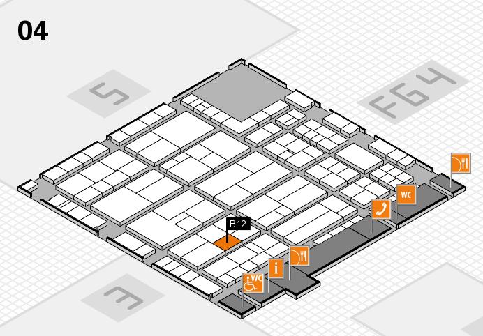 K 2016 hall map (Hall 4): stand B12