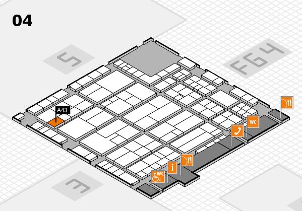 K 2016 hall map (Hall 4): stand A43