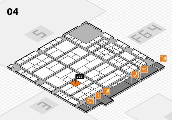 K 2016 hall map (Hall 4): stand B22