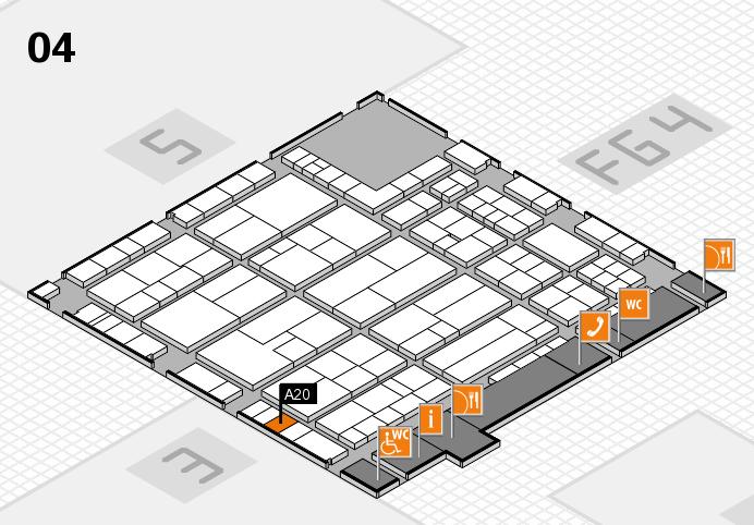 K 2016 Hallenplan (Halle 4): Stand A20
