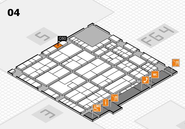 K 2016 hall map (Hall 4): stand C60