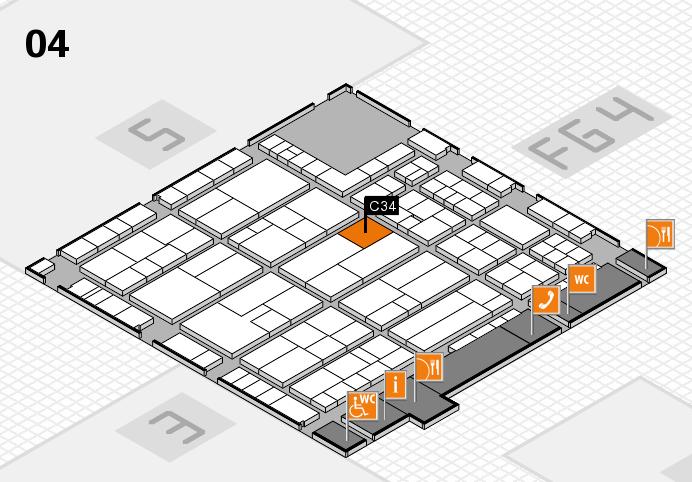 K 2016 hall map (Hall 4): stand C34