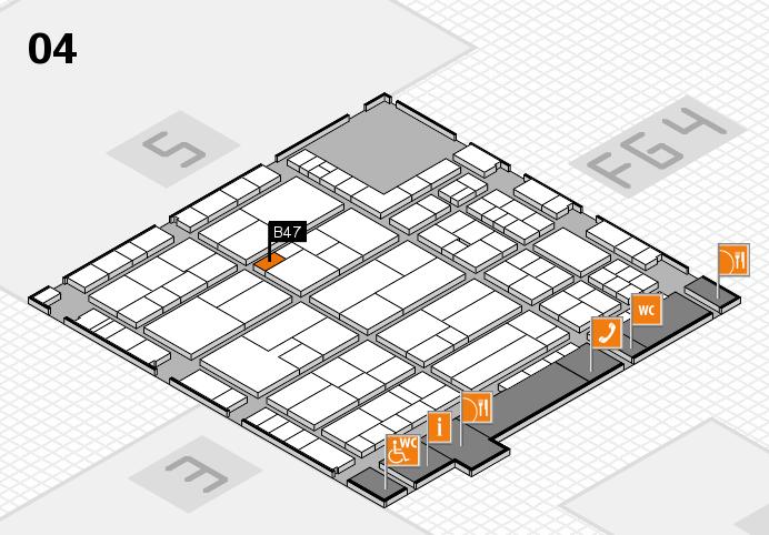 K 2016 hall map (Hall 4): stand B47