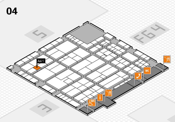 K 2016 Hallenplan (Halle 4): Stand A41