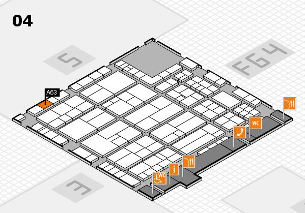 K 2016 hall map (Hall 4): stand A63