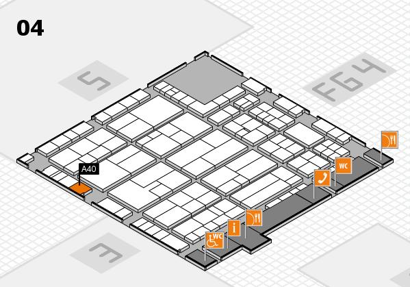K 2016 hall map (Hall 4): stand A40