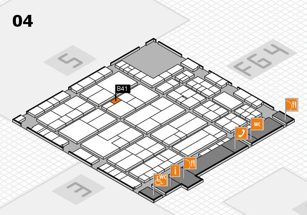 K 2016 hall map (Hall 4): stand B41