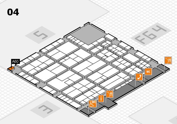 K 2016 hall map (Hall 4): stand A60