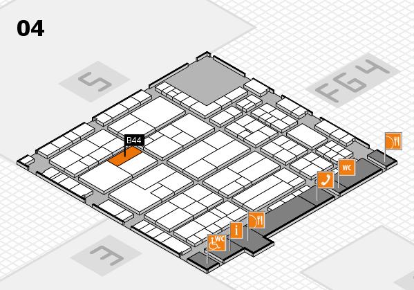 K 2016 hall map (Hall 4): stand B44