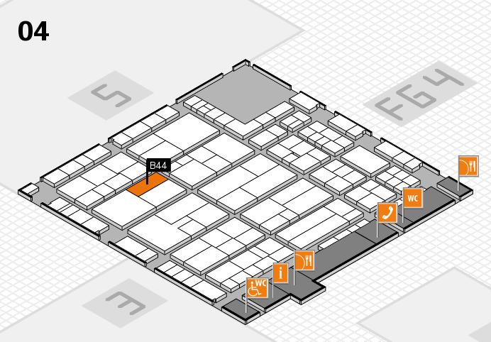 K 2016 Hallenplan (Halle 4): Stand B44